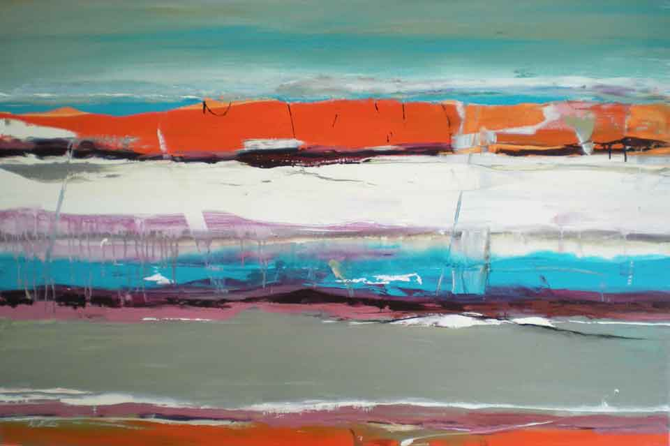 Abstract-orange-and-turquoise